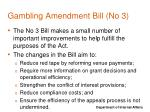 gambling amendment bill no 3