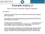 example enquiry 2