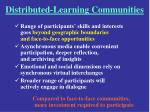 distributed learning communities
