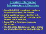 requisite information infrastructure is emerging