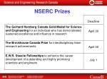 nserc prizes