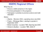 nserc regional offices