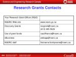 research grants contacts