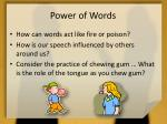 power of words1