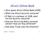 alice s online bank