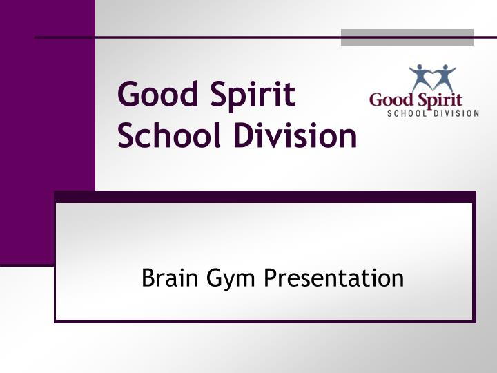 good spirit school division n.