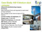 case study rgf 4 medium sized company