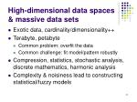 high dimensional data spaces massive data sets