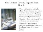your outlook directly impacts your health