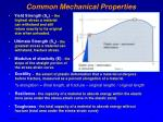 common mechanical properties