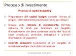 processo di investimento
