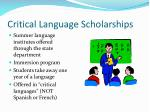 critical language scholarships