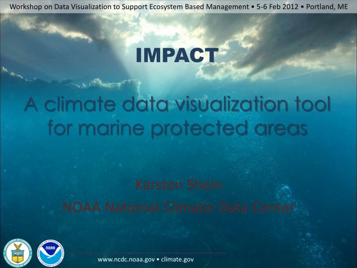 impact a climate data visualization tool for marine protected areas n.