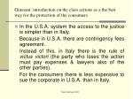 giussani introduction on the class actions as a the best way for the protection of the consumers