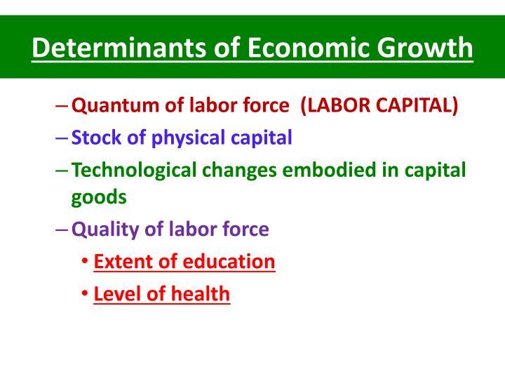 Determinants of Economic Growth