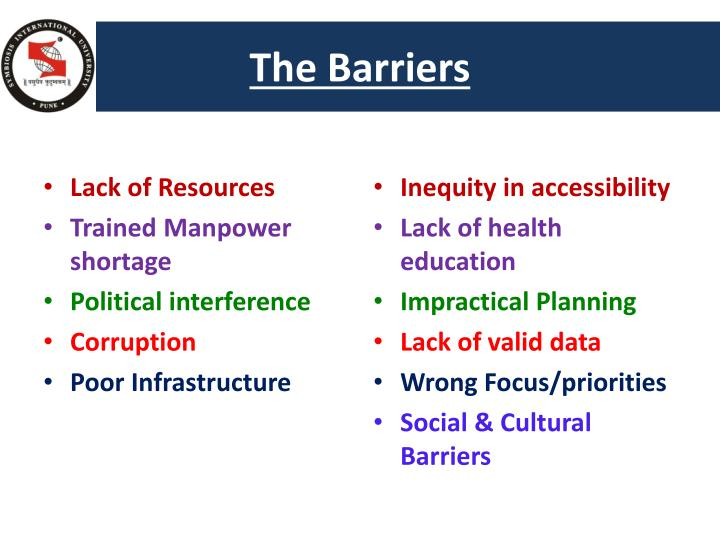 The Barriers