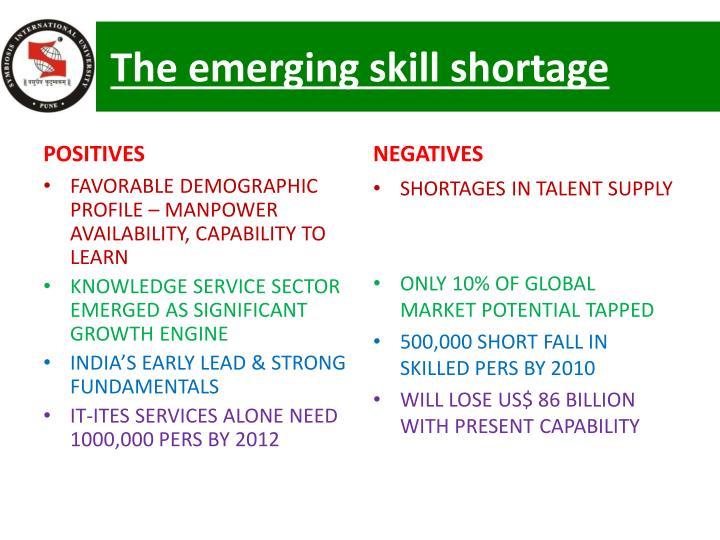 The emerging skill shortage