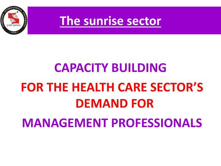 The sunrise sector
