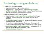 new endogenous growth theory