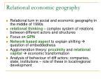 relation al economic geography