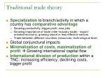 traditional trade theory