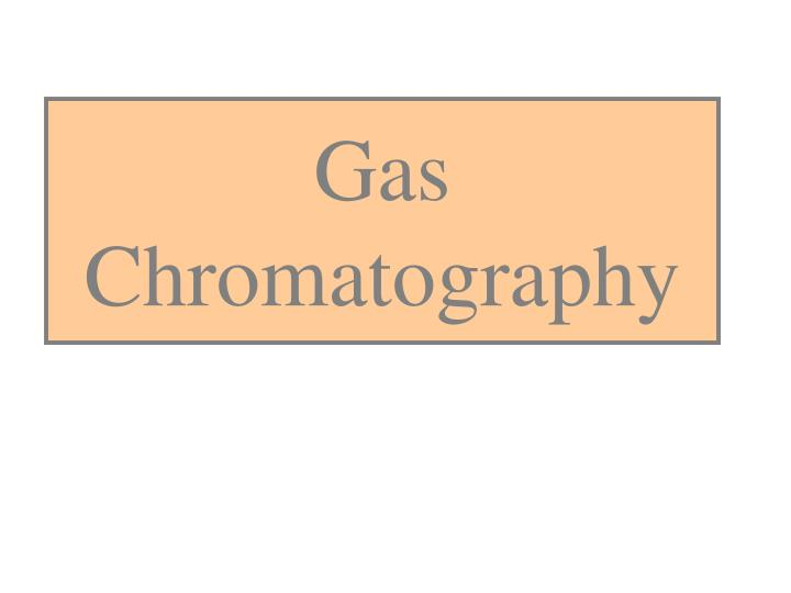 gas chromatography n.