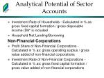 analytical potential of sector accounts1