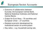 european sector accounts