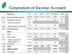 generation of income account