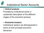 institutional sector accounts1