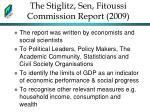 the stiglitz sen fitoussi commission report 2009