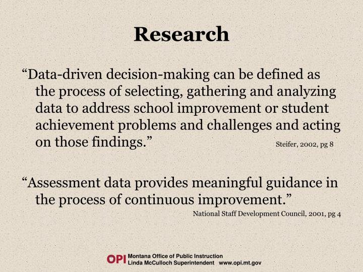 data driven instruction definition