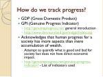 how do we track progress