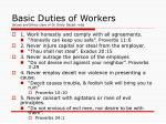 basic duties of workers values and ethics class of dr emily gacad mba