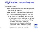 digitisation conclusions