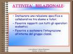 attivita relazionale