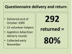 questionnaire delivery and return