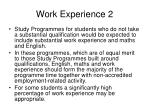 work experience 2