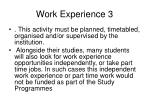 work experience 3