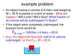 example problem