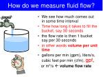 how do we measure fluid flow