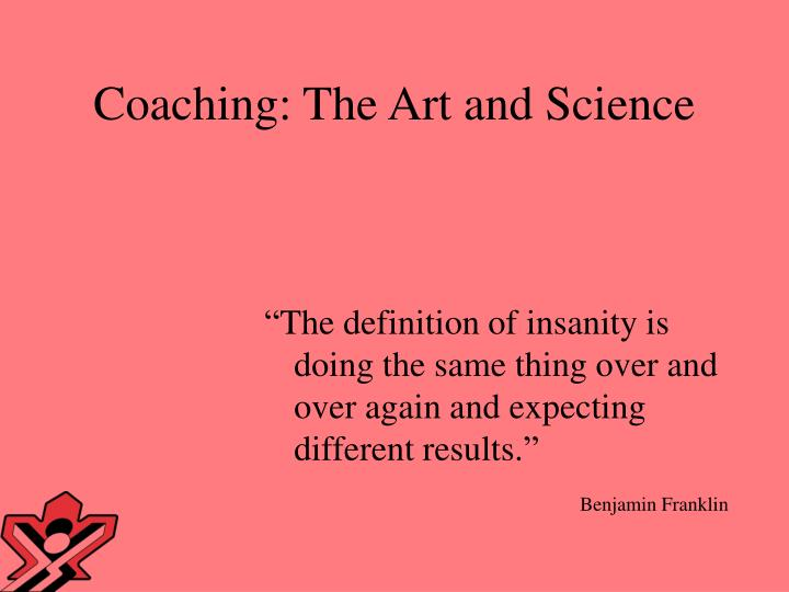 coaching the art and science n.