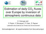 estimation of daily co 2 fluxes over europe by inversion of atmospheric continuous data
