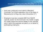 how does an employer take the credit