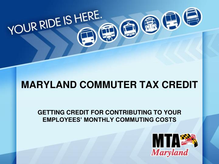 maryland commuter tax credit n.