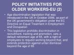 policy initiatives for older workers eu 2