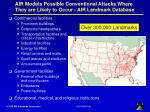 air models possible conventional attacks where they are likely to occur air landmark database