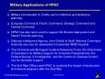 military applications of hpac