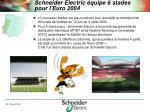 schneider electric quipe 6 stades pour l euro 2004
