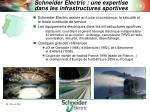 schneider electric une expertise dans les infrastructures sportives